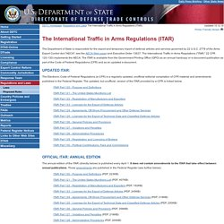 US State Department - Policy - Directorate of Defense Trade Controls