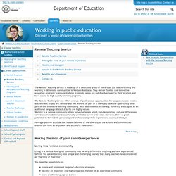 Working in public education - Remote Teaching Service