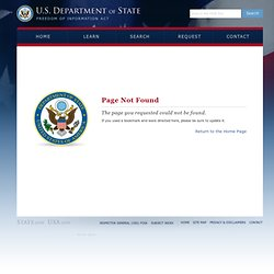 U.S. Department of State FOIA Electronic Reading Room