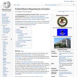 DOJ United States Department of Justice