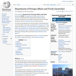 Department of Foreign Affairs and Trade (Australia)