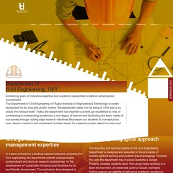 Department of Civil Engineering - Thapar Institute of Engineering and Technology