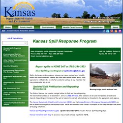 Kansas Department of Health and Environment: Kansas Spill Response Program
