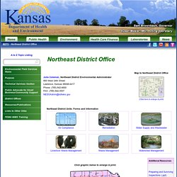 Kansas Department of Health and Environment: Northeast District Office