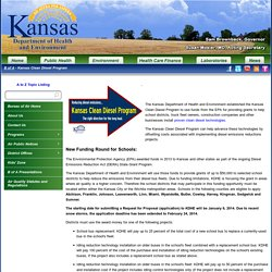 Kansas Department of Health and Environment: BoA Kansas Clean Diesel Program