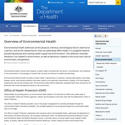 Overview of Environmental Health