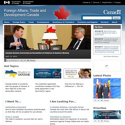 Foreign Affairs and International Trade Canada-DFAIT
