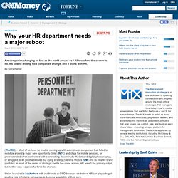 Why your HR department needs a major reboot