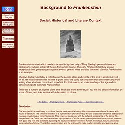 HGS English Department 'Frankenstein' Pages