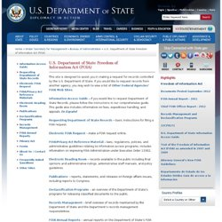 U.S. Department of State Freedom of Information Act (FOIA)