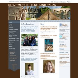 Department of French and Italian, University of Texas at Austin