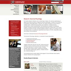 Department of Kinesiology at University of Maryland : Exercise P