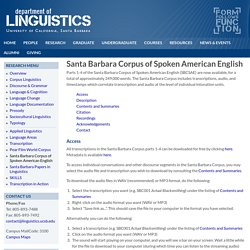 Santa Barbara Corpus of Spoken American English
