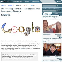 The revolving door between Google and the Department of Defense