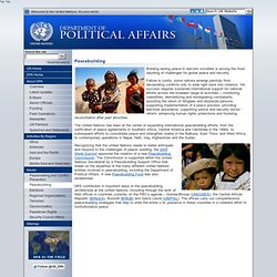 ited Nations Department of Political Affairs - Peacebuilding