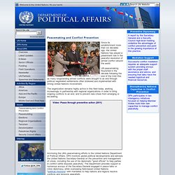 ited Nations Department of Political Affairs - Peacemaking and Conflict Prevention