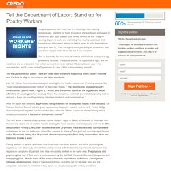 Tell the Department of Labor: Stand up for Poultry Workers