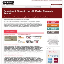 Department Stores in the UK Market Research