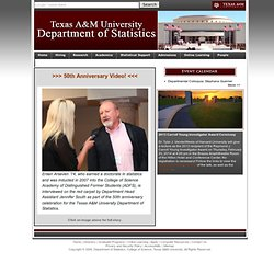 Department of Statistics - Texas A&M University