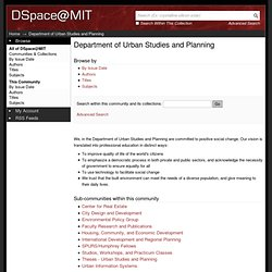 Department of Urban Studies and Planning