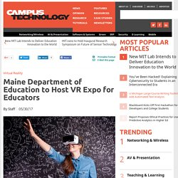 Maine DoE to Host VR Expo for Educators