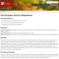 Chi-Square - Department of Sociology - The University of Utah