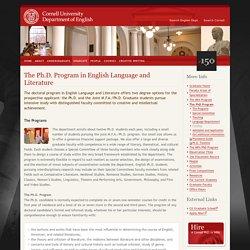 Department of English at Cornell University