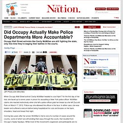 Did Occupy Actually Make Police Departments More Accountable?