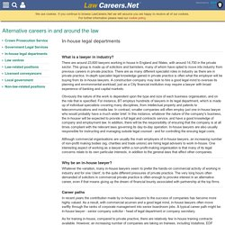 In-house legal departments - Alternative careers in and around the law