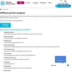 Join the Dental Departures Affiliates Program - Dental Departures