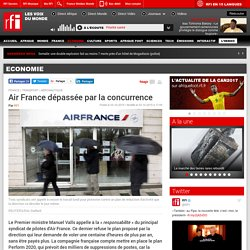 Air France dépassée par la concurrence - Economie