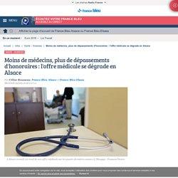 Moins de médecins, plus de dépassements d'honoraires : l'offre médicale se dégrade en Alsace