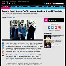 Depeche Mode's 'Concert For The Masses' Rose Bowl Show, 25 Years Later