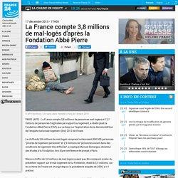 La France compte 3,8 millions de mal-logés d'après la Fondation Abbé Pierre