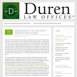 Dependability in Law with Christopher Duren