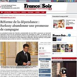 Réforme de la dépendance : Sarkozy abandonne une promesse de campagne