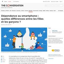 Dépendance au smartphone: quelles différences entre lesfilles etlesgarçons?