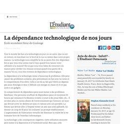La dépendance technologique de nos jours