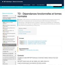 TD - Dépendances fonctionnelles et formes normales