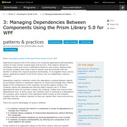 Chapter 3: Managing Dependencies Between Components
