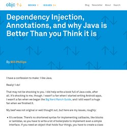 Dependency Injection, Annotations, and why Java is Better Than you Think it is · objc.io