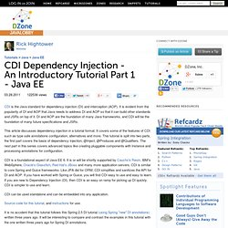 CDI Dependency Injection - An Introductory Tutorial Part 1 - Java EE
