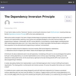 The Dependency Inversion Principle