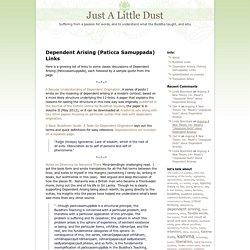 Dependent Arising (Paticca Samuppada) Links « Just A Little Dust