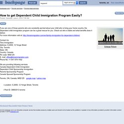 How to Speed up Dependent Child immigration Process Easily ?