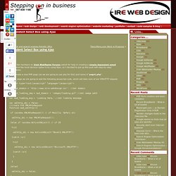 Dependent Select Box using Ajax | Website Design Ireland, Website Development