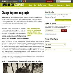 Change depends on people