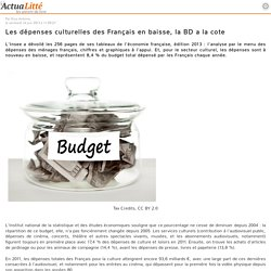 Les dépenses culturelles des Français en baisse, la BD a la cote