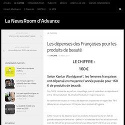Les dépenses des Françaises pour les produits de beauté - La NewsRoom d'Advance