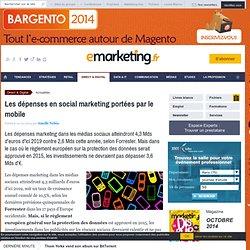Les dépenses en social marketing portées par le mobile